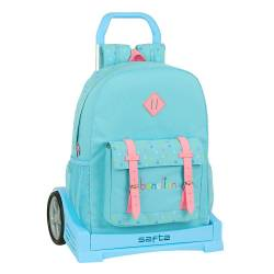 MOCHILA ESCOLAR SAFTA CON CARRO BENETTON CANDY 320X140X430 MM