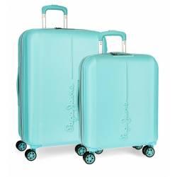 Juego de maletas Pepe Jeans Glasgow Azul Claro rígidas 55-70cm
