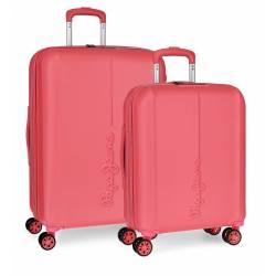 Juego de maletas Pepe Jeans Glasgow Coral rígidas 55-70cm