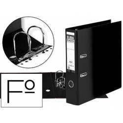 Archivador de palanca Elba Carton compacto Folio Lomo de 80 mm color Negro