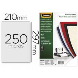 Tapa de Encuadernacion Carton Fellowes DIN A4 Color Negro 250 micras pack 100 uds