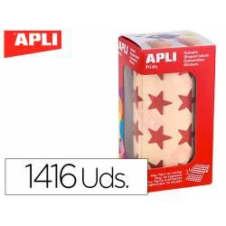 Gomets Apli estrella color rojo metalizado 19,5mm