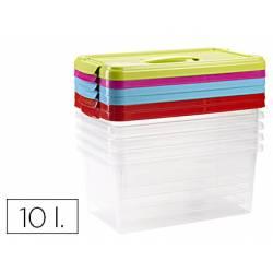 Caja multiusos de plastico con asa 385X230X175 mm