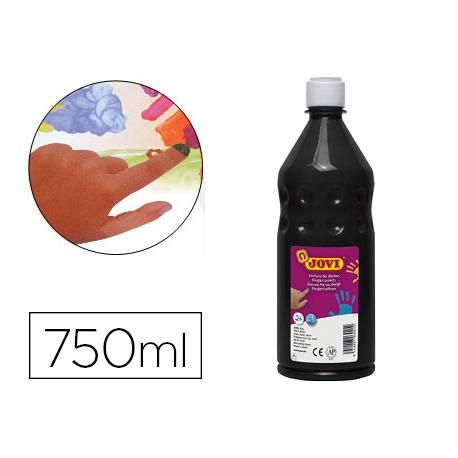 Pintura de dedos Jovi Botella 750 ml Color Negro