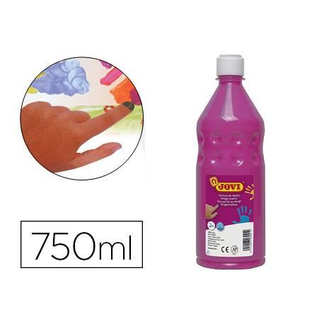 Pintura de dedos Jovi Botella 750 ml Color Magenta