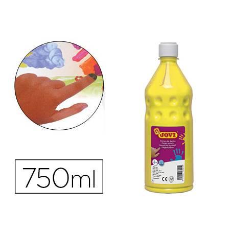 Pintura de dedos Jovi Botella 750 ml Color Amarillo
