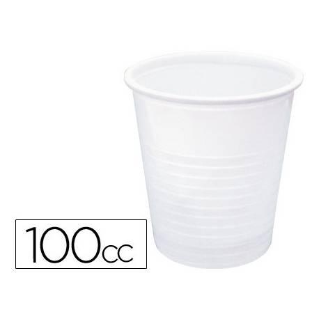 VASO DE PLASTICO BLANCO 100 CC PAQUETE DE 100 UNIDADES