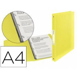 Carpeta plastico 4 anillas Esselte A4 color amarillo Colour Ice