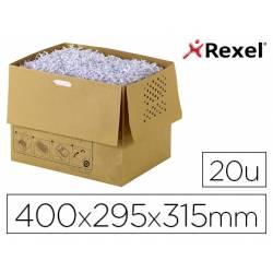 Bolsa de residuos para destructora de documentos marca Rexel AUTO+300X