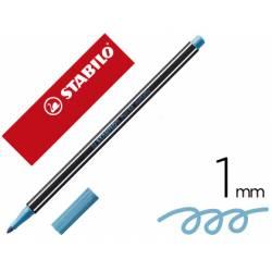 Rotulador Stabilo Acuarelable Pen 68 Color Azul Metalico