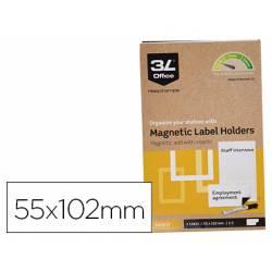 Portaetiquetas Magnetico 3l Office 55x102 mm Pack de 3 unidades