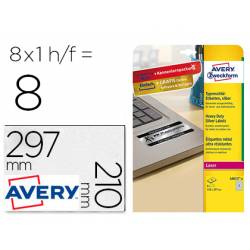 Etiqueta Adhesiva Avery Din A4 Poliester Color Plata Caja de 8 hojas