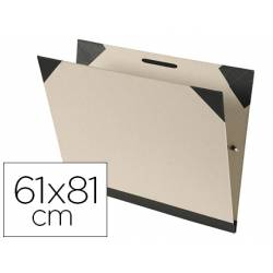 Carpeta de dibujo Canson Brut 61x81 cm Carton kraft con gomas Color gris