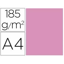 Cartulina Gvarro color Rosa chicle A4 185 g/m2 Paquete de 50