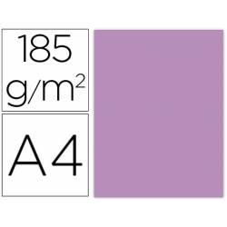 Cartulina Gvarro color Malva A4 185 g/m2 Paquete de 50