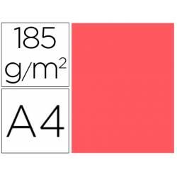 Cartulina Gvarro color coral A4 185 g/m2 Paquete de 50