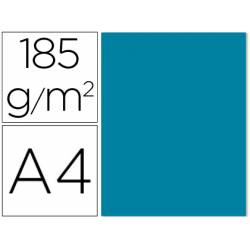Cartulina Gvarro color azul caribe A4 185 g/m2 Paquete de 50
