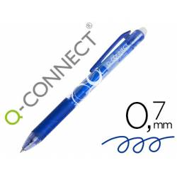 BOLIGRAFO Q-CONNECT RETRACTIL BORRABLE 0,7 MM COLOR AZUL