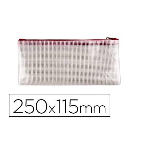 Bolsa multiusos 250x115 mm Q-Connect plastico impermeable y ultrarresistente color Roja