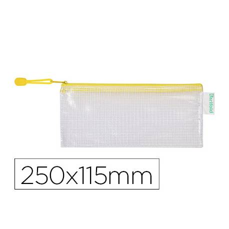 Bolsa multiusos 250x115 mm Tarifold plastico impermeable y ultrarresistente correa Amarilla