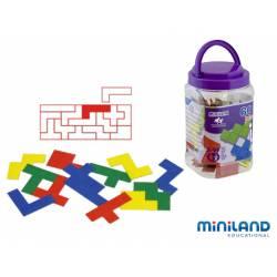 Juego didáctico de 5 a 12 años Pentominos de colores Miniland