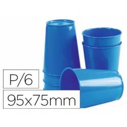 Vaso ABS azul 95x75 mm con borde grueso redondeado