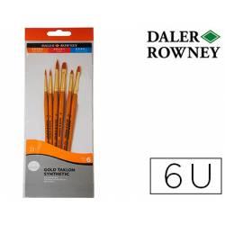 Pinceles acrílico Daler Rowney 6 unidades surtidas