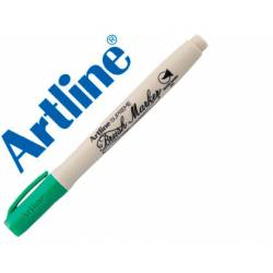 Rotulador Artline Supreme Brush Acuarelable Punta Pincel Color Verde