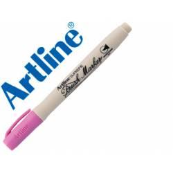 Rotulador Artline Supreme Brush Acuarelable Punta Pincel Color Rosa