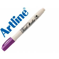 Rotulador Artline Supreme Brush Acuarelable Punta Pincel Color Magenta