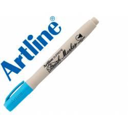 Rotulador Artline Supreme Brush Acuarelable Punta Pincel Color Azul Celeste