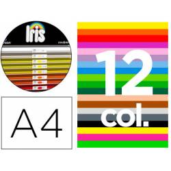 """Cartulina Guarro DIN A4 185g/m2 Contenido """"A"""" de 12 Colores Surtidos 100 hojas Colores + 100 hojas blancas"""