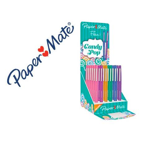 Rotulador Paper Mate Flair Punta Fieltro trazo 1 mm expositor 36 unidades