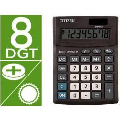 Calculadora Citizen Business line 136x100x32 mm Eco Solar y pilas con 8 Digitos