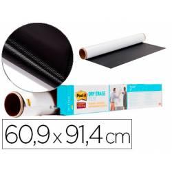 Pizarra Blanca Rollo Adhesivo Post It Super Sticky Removible de 60,9x91,4 cm