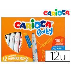 Rotulador Carioca Baby Punta Gruesa Lavables de Colores Surtidos Caja de 12 unidades