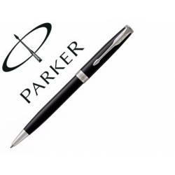 Bolígrafo Parker Sonnet CT Punta 1mm Tinta Azul Retráctil Lacado Color Negro
