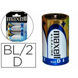 Pilas Maxell Alcalina 1.5 V D LR20 Blister de 2 unidades