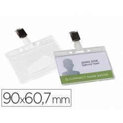 Identificadores Q-Connect Pinza Metálica 9X6,7 acabado Brillante