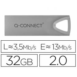 Memoria usb 32 Gb Q-CONNECT 2.0 Flash Premium plateado