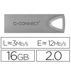 Memoria usb 16 Gb Q-CONNECT 2.0 Flash Premium Plateado