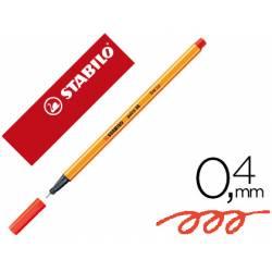 Rotulador Stabilo Point 88 Color Rojo anaranjado
