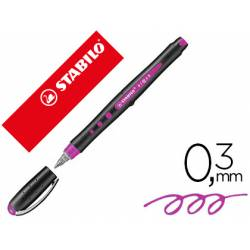 Rotulador Stabilo Roller Black 0,3mm color Lila