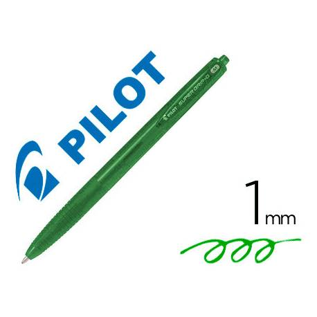 Boligrafo Pilot Super Grip G Verde 0.4mm retráctil