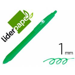 Boligrafo Gummy Touch 1mm Retractil Verde marca Liderpapel