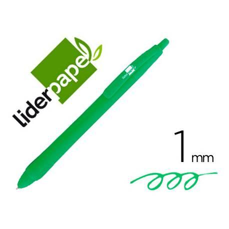 Boligrafo Gummy Touch 1mm Retractil Verde marca Liderpapel