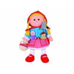 Marioneta de mano y de dedos Personajes Caperucita a partir de 3 años Fiesta Crafts