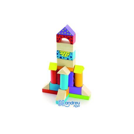Juego de construccion a partir de 2 años bloques de madera 100 piezas Ambitoys