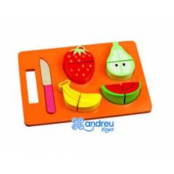 Juego de Imitacion para bebes a partir de 1 año Frutas para cortar Ambitoys