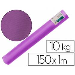 Bobina papel tipo kraft verdujado color violeta 1x150 mt Liderpapel